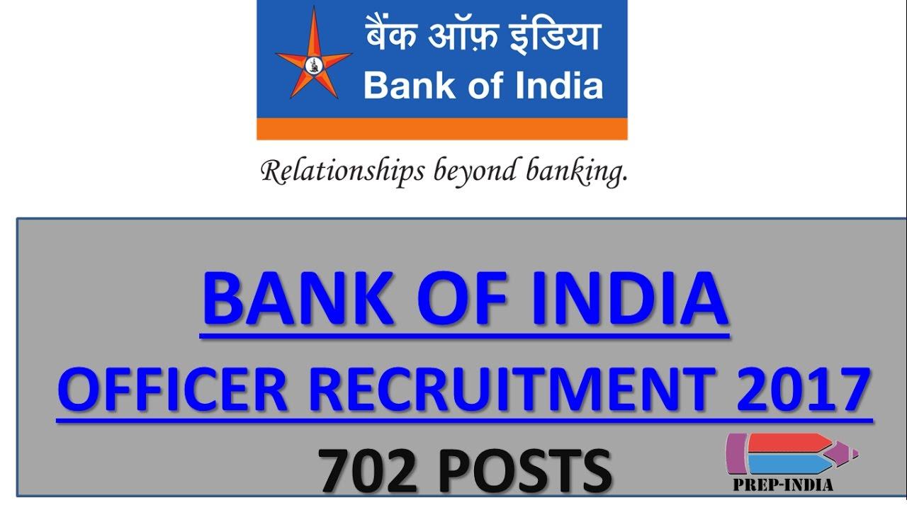 BANK OF INDIA OFFICER RECRUITMENT 2017 | Bank PO Govt Jobs ...