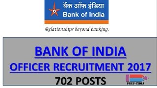 BANK OF INDIA OFFICER RECRUITMENT 2017 | Bank PO Govt Jobs, Vacancies | Sarkari Naukari