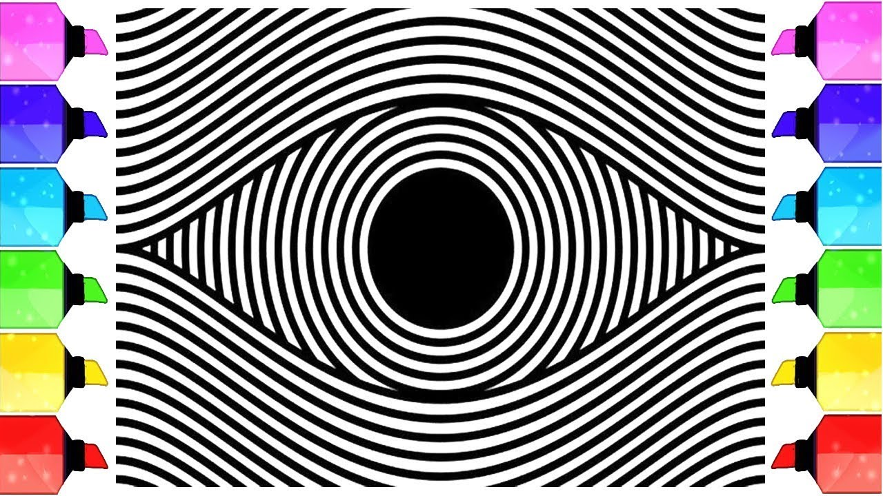 optical illusions coloring pages # 32
