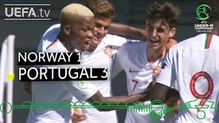 #U19EURO highlights: Norway 1-3 Portugal