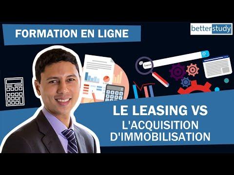 le leasing vs l'acquisition d'immobilisation