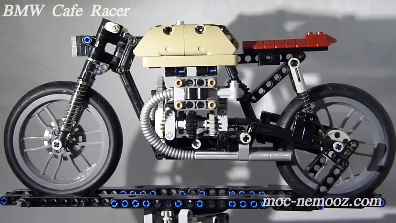bmw cafe racer lego technic motorcycle youtube. Black Bedroom Furniture Sets. Home Design Ideas
