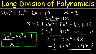 Long Division With Polynomials - The Easy Way!