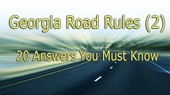 Georgia Permit Test - 20 Questions You Must Know