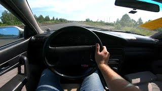 1992 Audi 100 2.3L (133) POV Test Drive