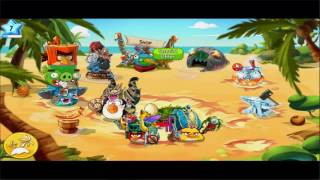 Angry Birds Epic прохождение часть 2 Help for Matilda & Bomb, Golden pig machine & bird ship unloc
