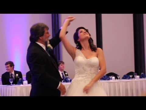 Bride and Dad Rock out to Led Zeppelin