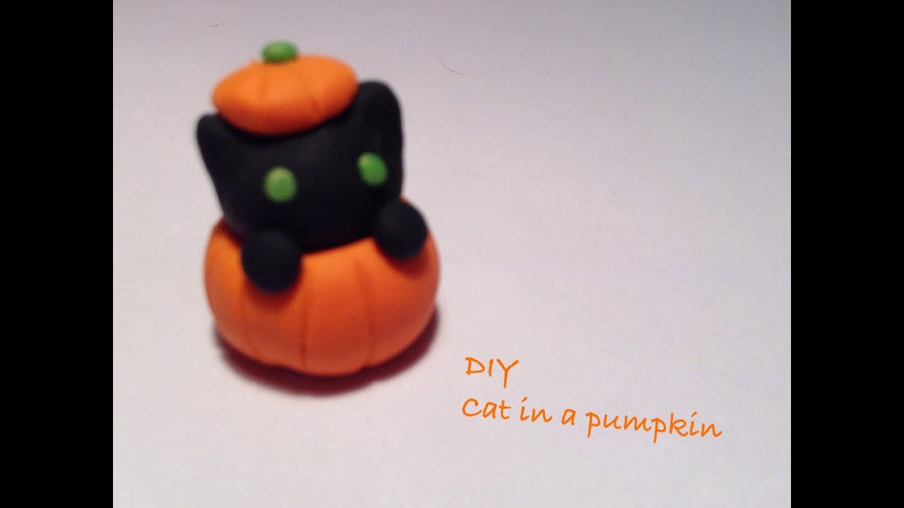 diy polymer clay charms: 13 days of halloween: day 4 black cat in