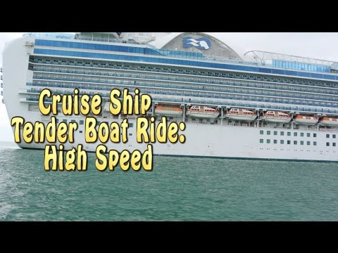 Cruise Ship Tender Boat High Speed Ride