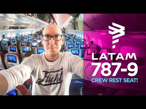 LATAM Airlines 787-9 review SCL-EZE (crew rest seat!)