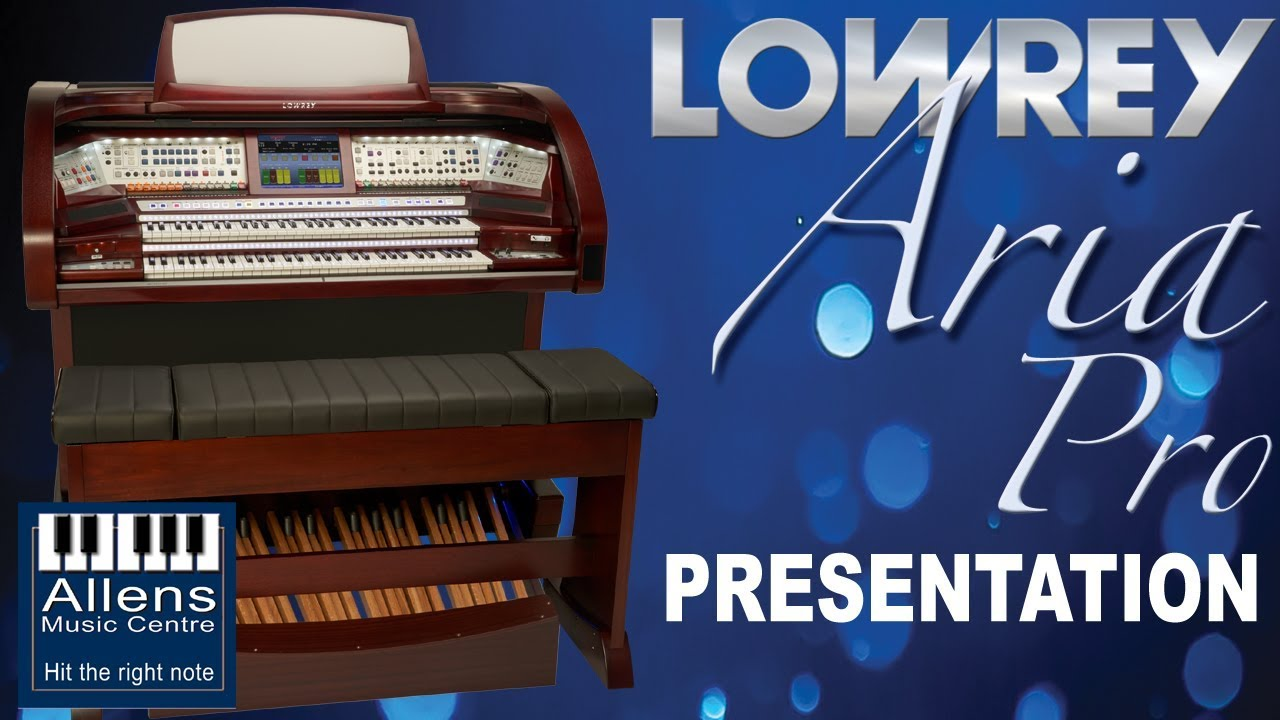 The new Lowrey Aria Pro EX6000 home organ