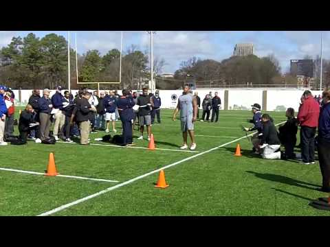 Georgia Tech Pro Day: Burnett, Dwyer, Frierson, Griffin and Howard Run Cones