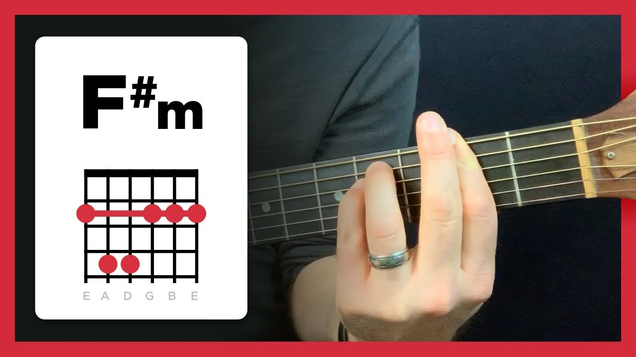 Learning to play Fm F sharp minor chord