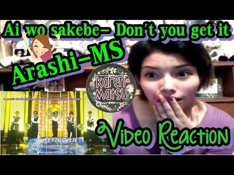 嵐Live MusicStation - Ai wo sakebe / Don't you get it   Video Reaction   VLOG 08