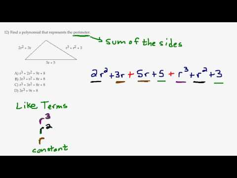 Find perimeter of a triangle combine like terms youtube find perimeter of a triangle combine like terms ccuart Images