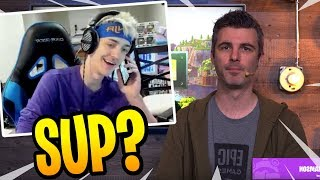 Ninja on the PHONE with 'Epic Games' LIVE on Stream! - Fortnite Best and Funny Moments