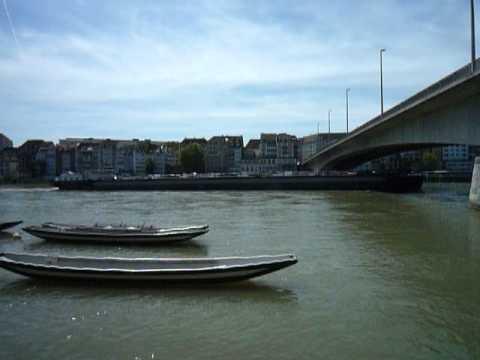 Rheinschifffahrt Basel Richtung Holland