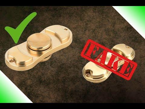 Quality 100% Brass Fidget Spinner vs Cheap Knockoff