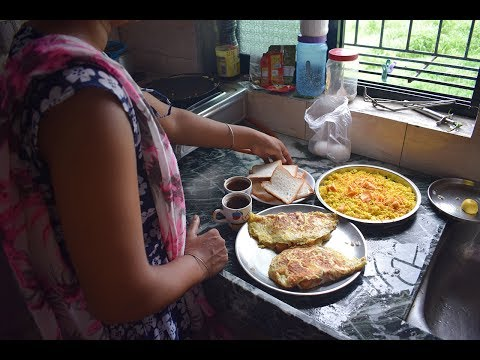 INDIAN MORNING BREAKFAST ROUTINE 2018 IN HINDI | DAILY INDIAN MORNING KITCHEN ROUTINE CLEANING