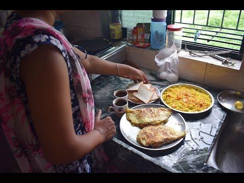INDIAN MORNING BREAKFAST ROUTINE 2017 IN HINDI   DAILY INDIAN MORNING KITCHEN ROUTINE CLEANING