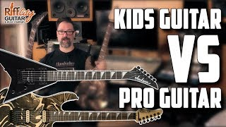 Kids Guitar Vs Pro Guitar - The Affordable Guitar Studio Challenge