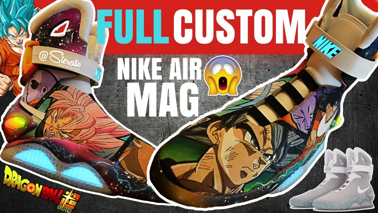 competitive price 479e9 dd73e Full Custom   DragonBall Super Painted Nike Air Mags by Sierato