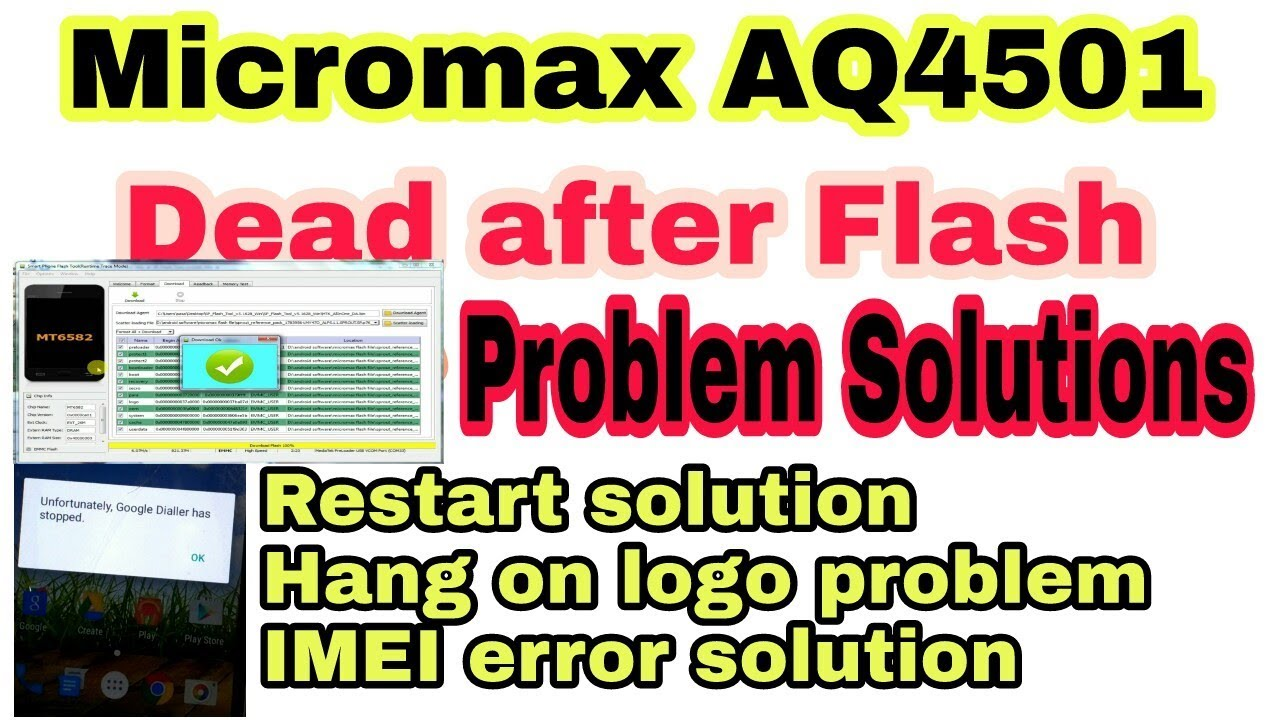 micromax AQ4501 Flashing problem solved | Dead after flash solution 2018 |  HINDI