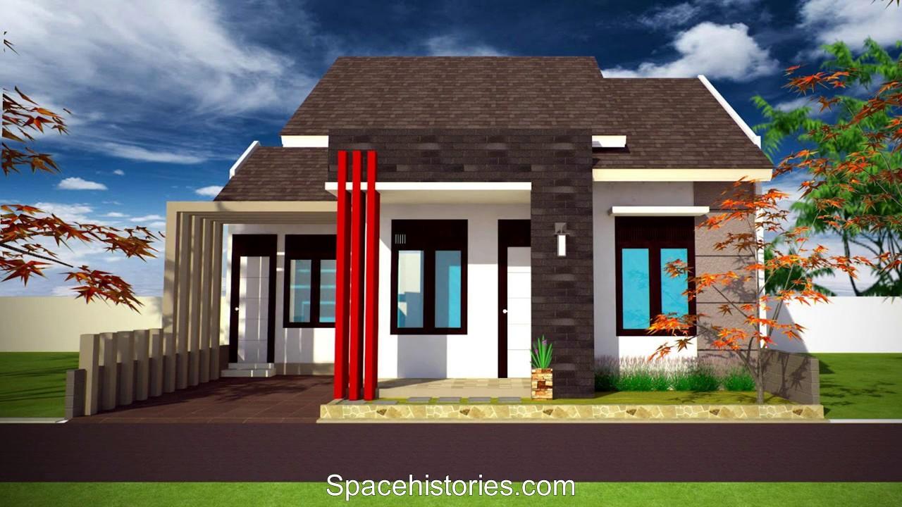 Model Rumah Minimalis 1 Lantai Tampak Dari Depan Dan Samping Youtube