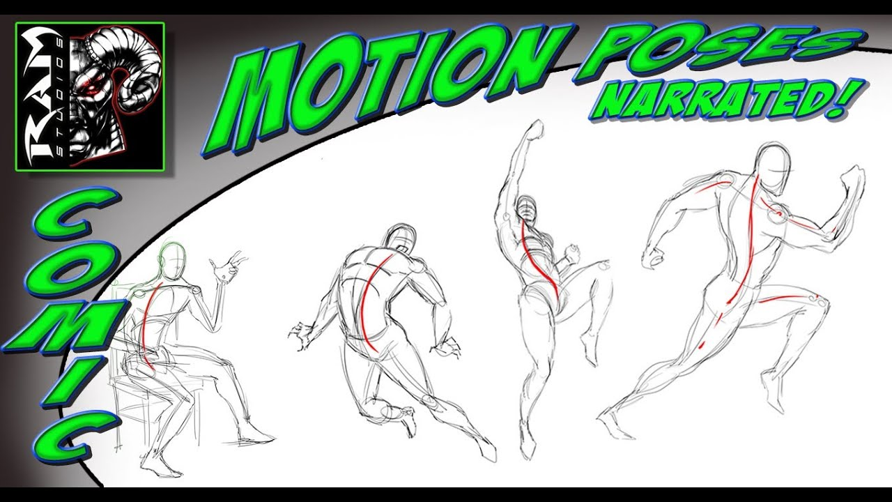 Comic Book Cover Tutorial Photo ~ How to draw gestures and motion in a comic book art