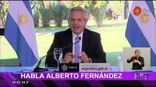 Alberto Fernández anunció cuarentena estricta para el AMBA por el coronavirus