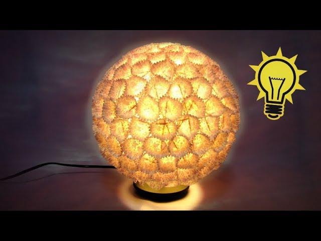 Como hacer una lámpara de diseño. Design lamp. Videos De Viajes