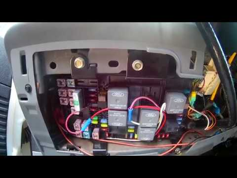 Ford Powerstoke 60 F250 Aux switch wiring upfitter 2005 2006 2007  YouTube