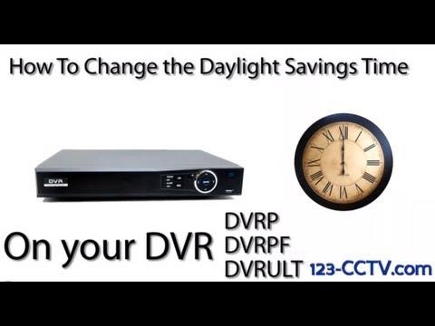 Setting Daylight Savings Time on 123-CCTV DVR P, PF, ULT Series