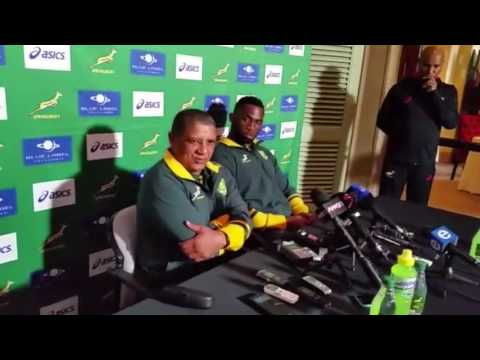 Allister Coetzee addresses media in Johannesburg