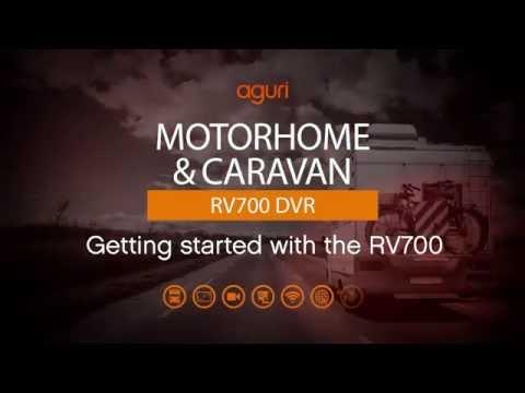 Aguri Motorhome & Caravan RV700 DVR satellite navigation. Getting started