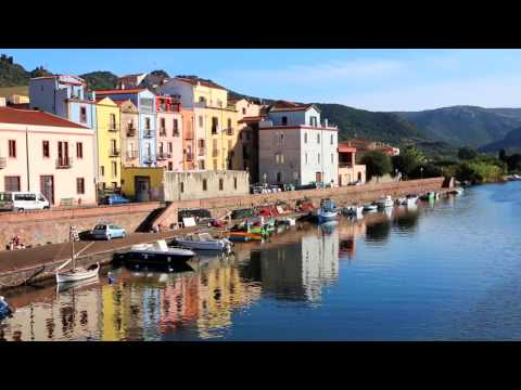 The colorful town of BOSA (Sardinia)  in 7 minutes