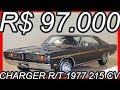 PASTORE R$ 97.000 #Dodge Charger R/T 1977 Preto 318 MT4 RWD 5.2 V8 215 cv 42,9 kgfm 181 kmh