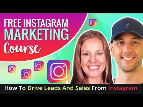 Instagram Marketing - How To Drive Leads And Sales From Instagram.  Free Instagram Marketing Course.