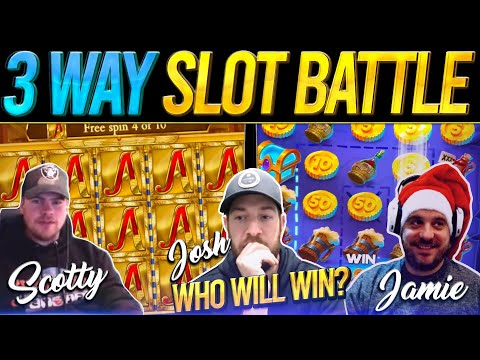 THE THREE-MATCH! 10 Slot Bonus Battle - Josh Vs Scotty Vs The Reindeer!!