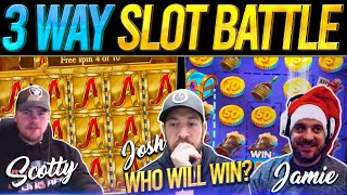 THE THREE-MATCH! 10 Slot Bonus Battle - Josh Vs Scotty Vs The Reindeer!!