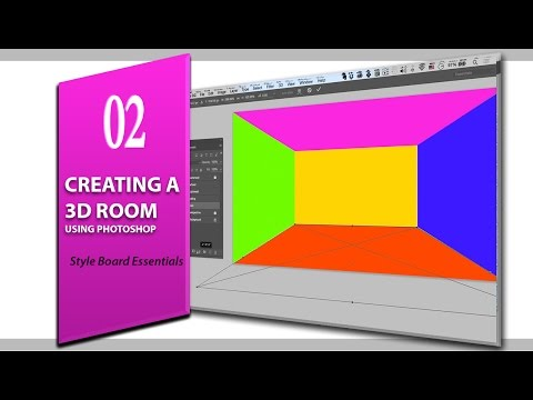 lesson 2: Creating a 3d room using Photoshop (style board essentials for interior design)