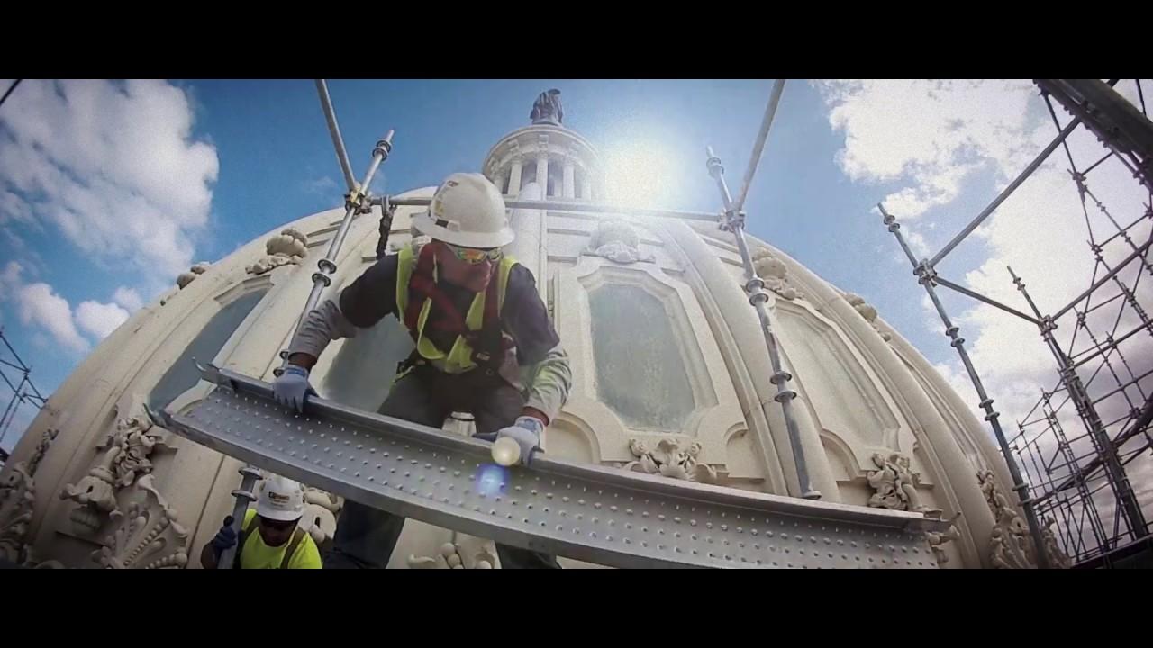 Dome Restoration: A Mega Team Effort