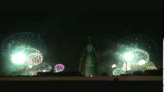 NEW YEAR'S EVE 2010 @ BURJ AL ARAB  DUBAI - COUNTDOWN - HAPPY NEW YEAR