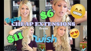 I tried CHEAP Hair Extensions From WISH