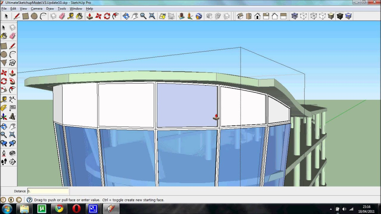 Drawing A Curved Facade Youtube