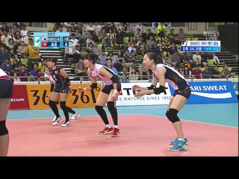 2014 InCheon AsianGames Women's Vollyball 20140927 [Korea vs Hongkong] KBS2