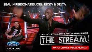 Seal Impersonates Ricky Martin, Joel Madden And Delta Goodrem: The Voice Australia Season 2