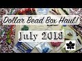 July 2018 Dollar Bead Box Haul - Non-Subscription/Supplemental Order, Beaded Jewelry Making Items!