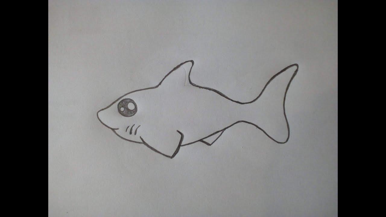 Cara menggambar Ikan Hiu untuk anak TK - YouTube