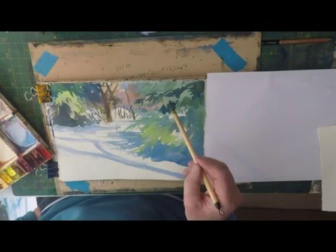 How To Paint Snow  Beginners Watercolour (Full Version)